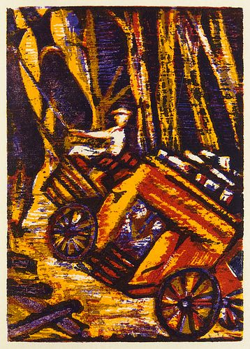 Mörike, Eduard Mozart auf der Reise nach Prag. Mit 11 meist ganzseitigen Farbholzschnitten von Esteban Fekete. Bayreuth, Bear Press, 2004. 4 (1 doppel