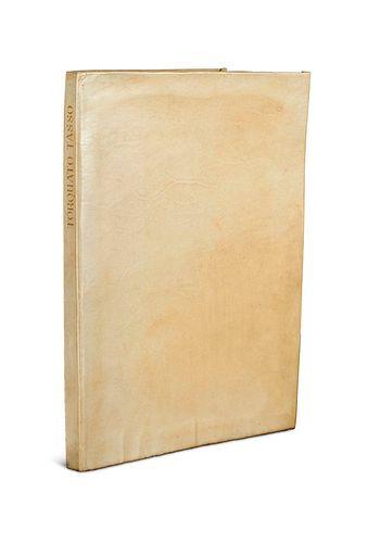Goethe, Johann Wolfgang von Torquato Tasso. Ein Schauspiel. Druck in Schwarz und Rot. Hammersmith, Doves Press, 1913. 7 w. Bll., 163 S., 8 w. Bll. Gr.