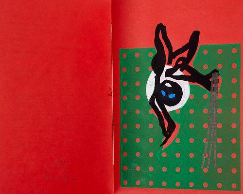 Mimas Atlas 8, 11, 13, 15, 18 und 19. 6 Werke (Künstlerbuch & Medienkunst). Berlin 2008-2016. Or.-Pappbände mit mont. Deckelvign. und Deckeltitel, I