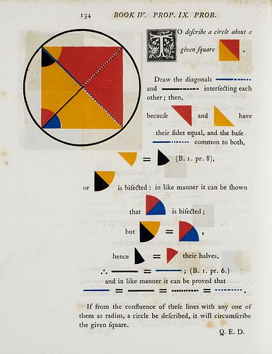 Euklid The first six books of the elements of Euclid in which coloured diagrams and symbols are used instead of letters for the greater ease of learne