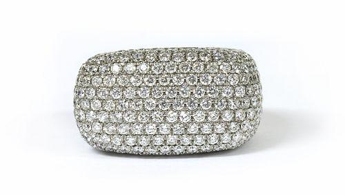 A white gold diamond ring,