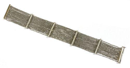 An 18ct white gold diamond set bracelet,