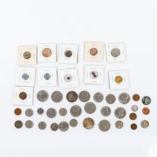 Group of Us Related Dollar Coins and Tokens