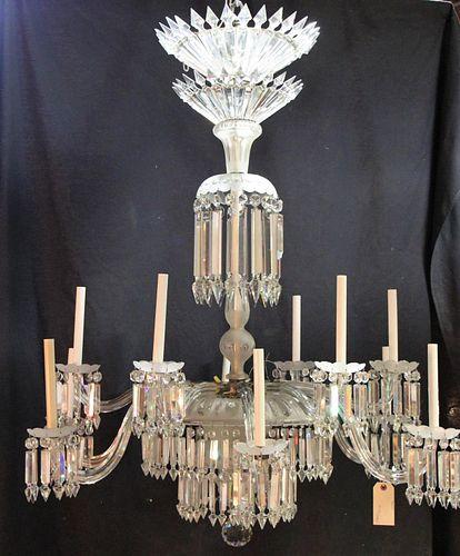 1850-1890'S REGENCY STYLE ALL GLASS CHANDELIER