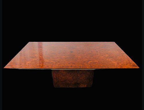 Vintage Roche Bobois Burl Dining Table