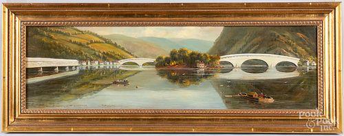 Oil on canvas Northumberland, On the Susquehanna