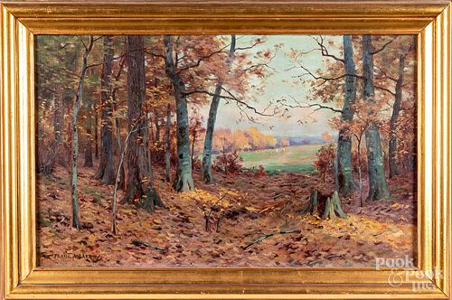 Frank Barney oil on canvas landscape