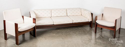 Cassina mid century living room suite, to include