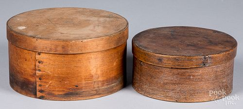 Two bentwood pantry boxes, 19th c.
