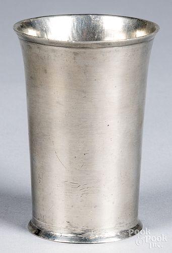 Hartford, Connecticut pewter beaker, ca. 1805