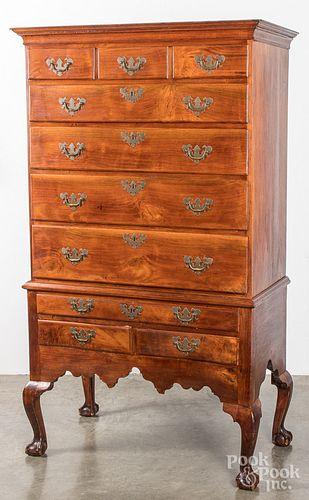 Pennsylvania Chippendale walnut high chest