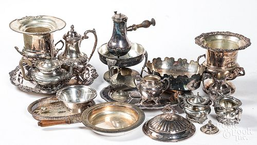 Large group of silver plate.