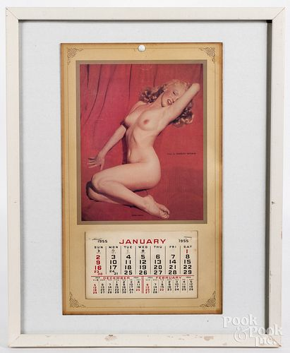 1955 Marilyn Monroe nude calendar
