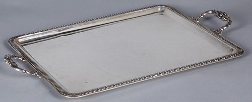 Continental silver tray