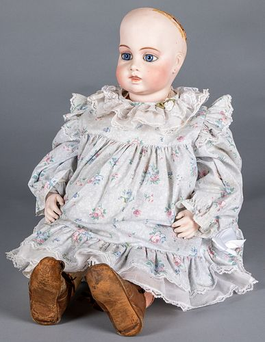 French bisque socket head and shoulder doll