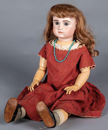 Large Jules Steiner bisque head bebe doll
