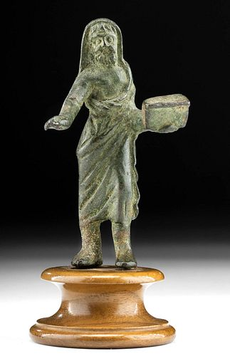Published Roman Leaded Bronze Priest - ex Sotheby's