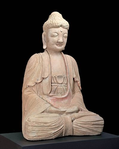 Chinese Song Dynasty Stone - Lord Buddha in Meditation