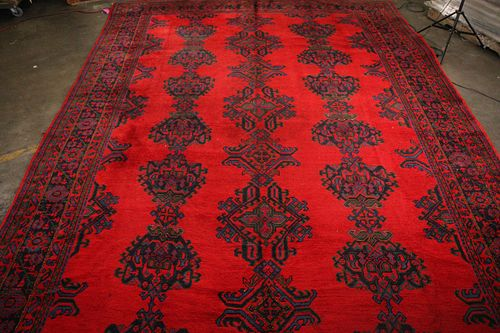 HAND KNOTTED PAKISTAN AUBUSSON RUG