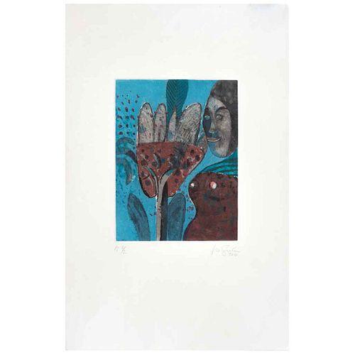ROGER VON GUNTEN, Mujer mano negra, Firmado y fechado 2010, Grabado P I 2 / 2, 28 x 20 cm | ROGER VON GUNTEN, Mujer mano negra, Signed and dated 2010,
