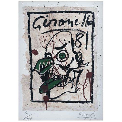 ALBERTO GIRONELLA, Sin título, de la carpeta Copilli: Corona Real, Firmada y fechada  81, Serigafía s/papel amate 41/100, 46 x 34 cm | ALBERTO GIRONEL