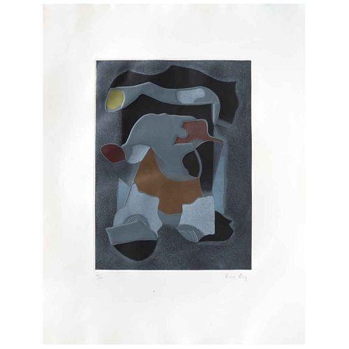 LUIS LÓPEZ LOZA, Sin título, Firmado, Grabado al aguatinta 41 / 100, 39 x 29 cm | LUIS LÓPEZ LOZA, Untitled, Signed, Aquatint engraving 41 / 100, 15.3
