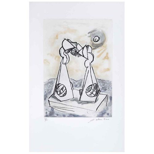 "ENRIQUE CARBAJAL ""SEBASTIAN"", Sin título, Firmado, Grabado al azúcar P / I, 32.5 x 23 cm | ENRIQUE CARBAJAL ""SEBASTIAN"", Untitled, Signed, Etched with"