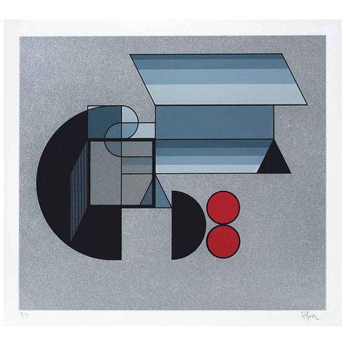 MANUEL FELGUÉREZ, Sin título, de la carpeta Diferencia y Continuidad, Firmada, Serigrafía P/T, 30 x 34 cm | MANUEL FELGUÉREZ, Untitled, from the binde