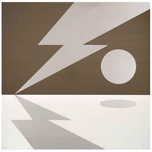 "DIEGO MATTHAI, Sin título, Firmado, Aluminio 20 / 40, 60 x 60 cm | DIEGO MATTHAI, Untitled, Signed, Aluminum 20 / 40, 23.6 x 23.6"" (60 x 60 cm)"