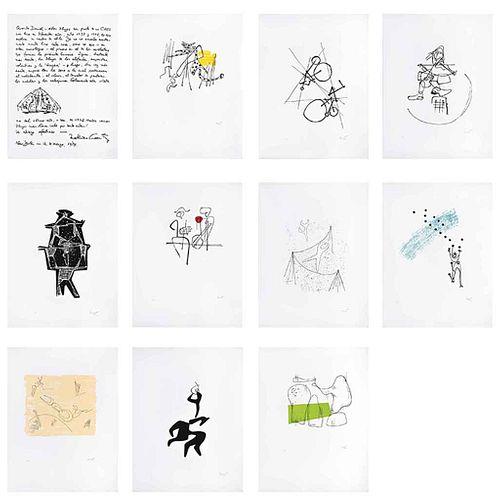 MATHIAS GOERITZ, El circo, 1949, Firmadas, Serigrafías HC, Medidas variables de cada una, Piezas: 11 | MATHIAS GOERITZ, El circo, 1949, Signed, Serigr