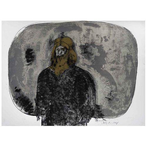 JOSÉ LUIS CUEVAS, Rasputín, de la carpeta Crime by Cuevas, Firmada y fechada 68, Litografía 85 / 100, 55.5 x 72 cm | JOSÉ LUIS CUEVAS, Rasputín, from