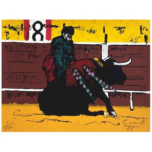 ALBERTO GIRONELLA, Rafael de Paula, Firmada y fechada 86, Serigrafía 8 / 100, 33 x 43 cm | ALBERTO GIRONELLA, Rafael de Paula, Signed and dated 86, Se