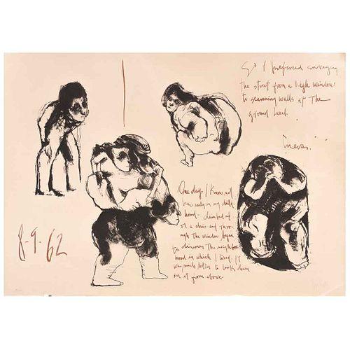 JOSÉ LUIS CUEVAS, Sin título, Firmada y fechada 8-9-62, Litografía 30 / 100, 40 x 56 cm | JOSÉ LUIS CUEVAS, Untitled, Signed and dated 8-9-62, Lithogr