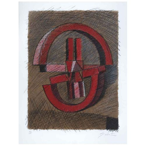 "ENRIQUE CARBAJAL ""SEBASTIAN"", Sin título, Firmado, Grabado 52 / 150, 64 x 49 cm | ENRIQUE CARBAJAL ""SEBASTIAN"", Untitled, Signed, Engraving 52 / 150,"