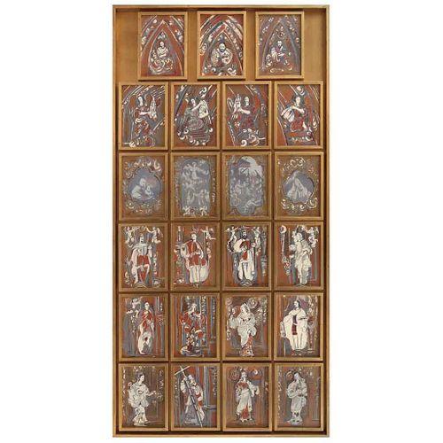 CARMEN PARRA, Altar de los Reyes, Firmadas, Serigrafías 169 / 200, 231 x 116.5 cm | CARMEN PARRA, Altar de los Reyes, Signed, Serigraphs 169 / 200, 90