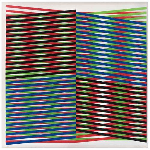 CARLOS CRUZ - DIEZ, Sin título, Firmada, Serigrafía 4 / 200, 60 x 60 cm