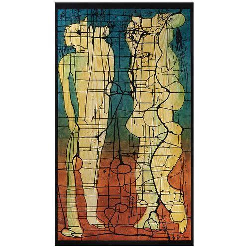 SERGIO HERNÁNDEZ, Sin título, Firmada Xilografía P / A, 212 x 120 cm