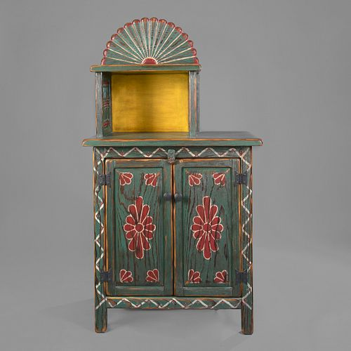 Anthony E. Martinez, Carved and Painted Cabinet