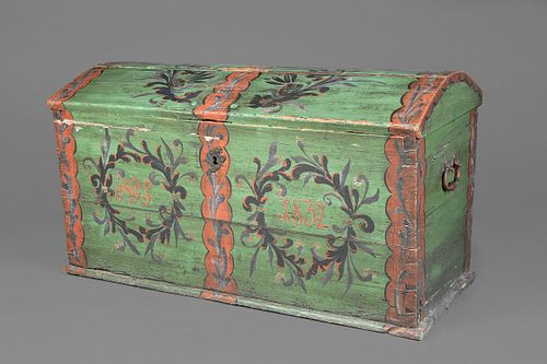 American or European, Painted Chest, 20th Century