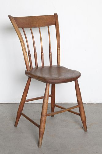American, Spindle Back Chair, 19th Century