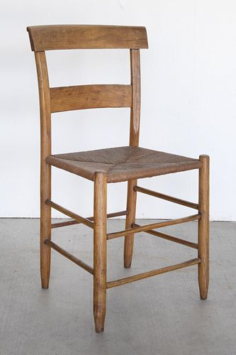 American, Woven Seat Chair, 19th Century