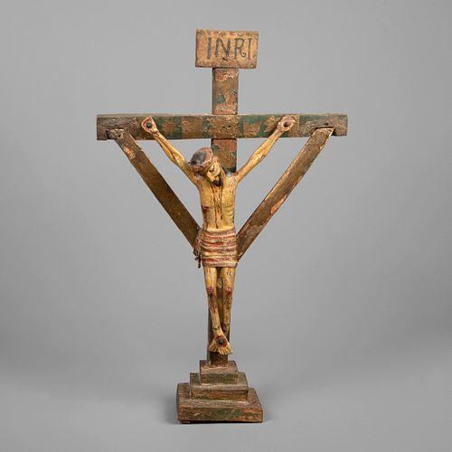 Attributed to Molleno Santero, Cristo Crucificado, ca. 1815-1845