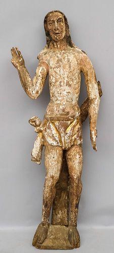 Large & Early Spanish Colonial Jesus Santos