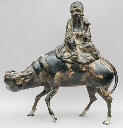 Large Antique Chinese Bronze Incense Burner