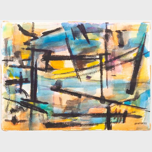 Murray Hantman (1904-1999): Abstraction; Sumi Ink; and Abstraction