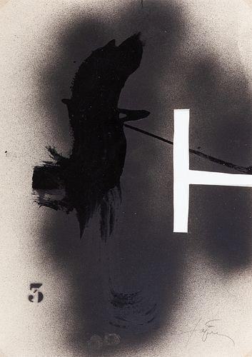 ANTONI TÀPIES PUIG (Barcelona, 1923 - 2012). Untitled, ca. 1979. Mixed media on paper.