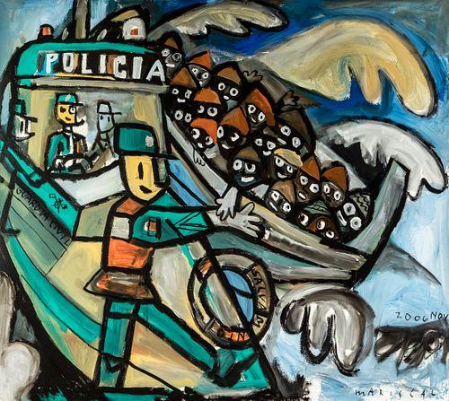 JAVIER MARISCAL (Almazora, Castellón, 1950). Untitled, November 2006. Oil on canvas.