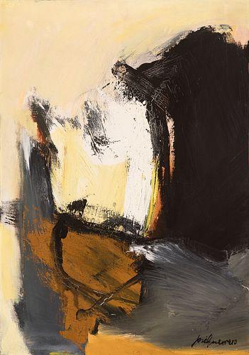 """JOSÉ GUERRERO (Granada, 1914 - Barcelona, 1991) """"Dark Shadows"""", 1963. Oil on canvas."""