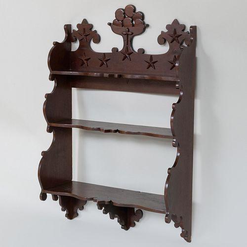 Victorian Walnut Hanging Shelf