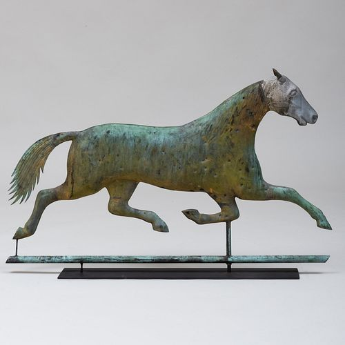 American Copper and Zinc Horse Weathervane, Attributed to A.L. Jewell, Waltham, MA